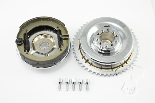 V-Twin 23-0877 - Rear Mechanical Brake Drum Kit Chrome
