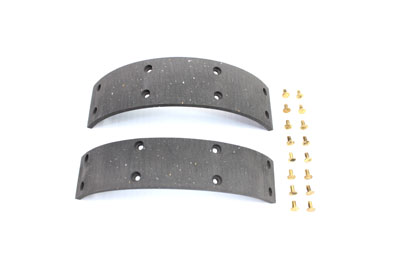 V-Twin 23-1987 - Rear Brake Shoe Lining with Rivets