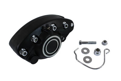 V-Twin 23-2218 - Black Rear 1 Piston Banana Caliper with Bullsey