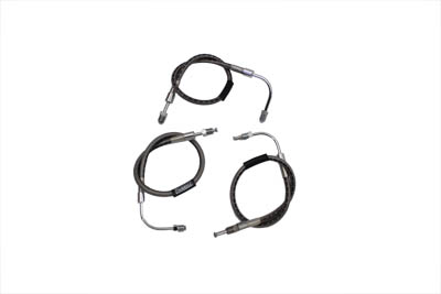 V-Twin 23-8703 - Stainless Steel Front Brake Hose 3 Piece