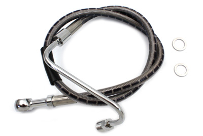 "V-Twin 23-8926 - Stainless Steel 24"" Front Brake Hose"