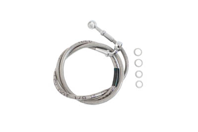 "V-Twin 23-8944 - Stainless Steel 43"" Front Brake Hose"