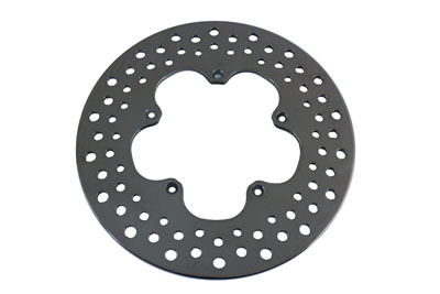 "V-Twin 23-9042 - 11-1/2"" Front Drilled Brake Disc Clover Leaf St"