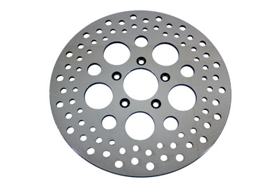 "V-Twin 23-9048 - 11-1/2"" Drilled Front Brake Disc"