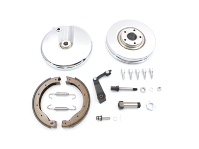 V-Twin 23-9222 - Front Brake Backing Plate Kit Right Side Chrome