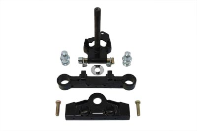 V-Twin 24-0004 - Black Adjustable Triple Tree Set without Tabs