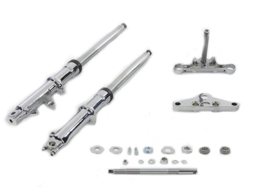 V-Twin 24-0043 - 41mm Wide Glide Fork Kit with Chrome Sliders