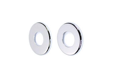 V-Twin 24-0114 - Upper and Lower Chrome Dust Shields