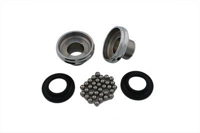 V-Twin 24-0134 - Chrome Ball Bearing Neck Cup Kit