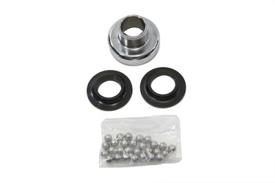 V-Twin 24-0135 - Chrome Ball Bearing Neck Cup Kit