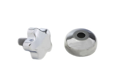 V-Twin 24-0207 - Chrome Fork Damper Knob with Cover