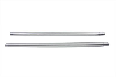 "V-Twin 24-0435 - Chrome 35mm Fork Tube Set 25-1/4"" Total Length"