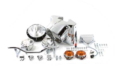 "V-Twin 24-0502 - 7"" Headlamp Cowl Kit Chrome"