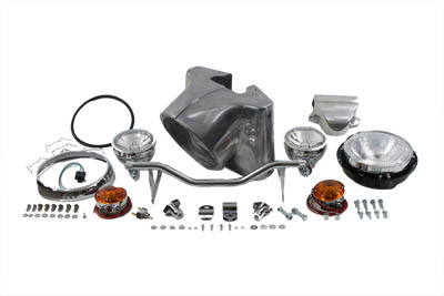 "V-Twin 24-0503 - 7"" Headlamp Cowl Kit Polished"