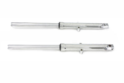 V-Twin 24-0590 - 39mm Fork Tube Assembly with Chrome Sliders