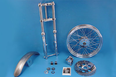 "V-Twin 24-1050 - 39mm Chrome Fork Assembly with 21"" Wheel"