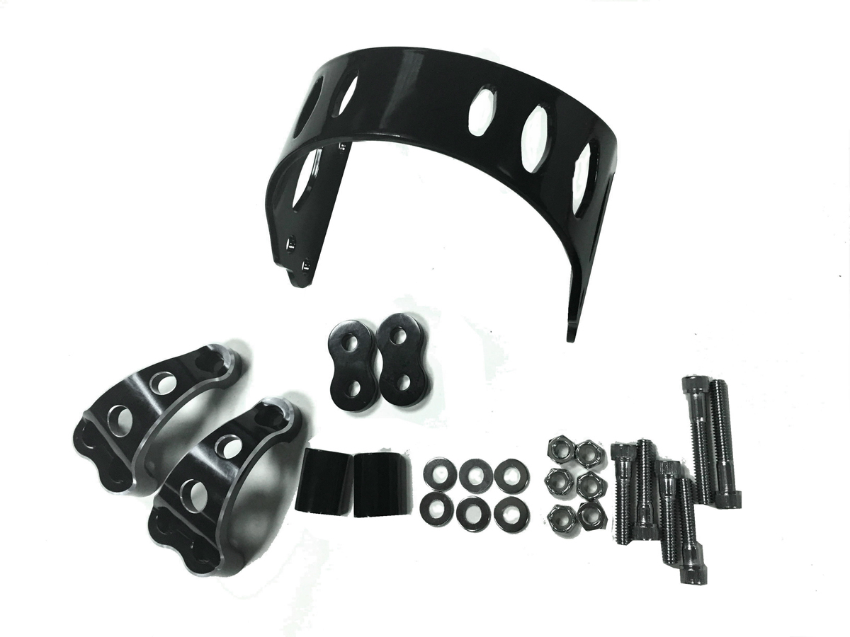 49MM BLACK TOMAHAWK FRONT FORK BRACE VTWIN 24-1076