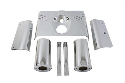 V-Twin 24-1266 - Chrome Fork Cover Kit