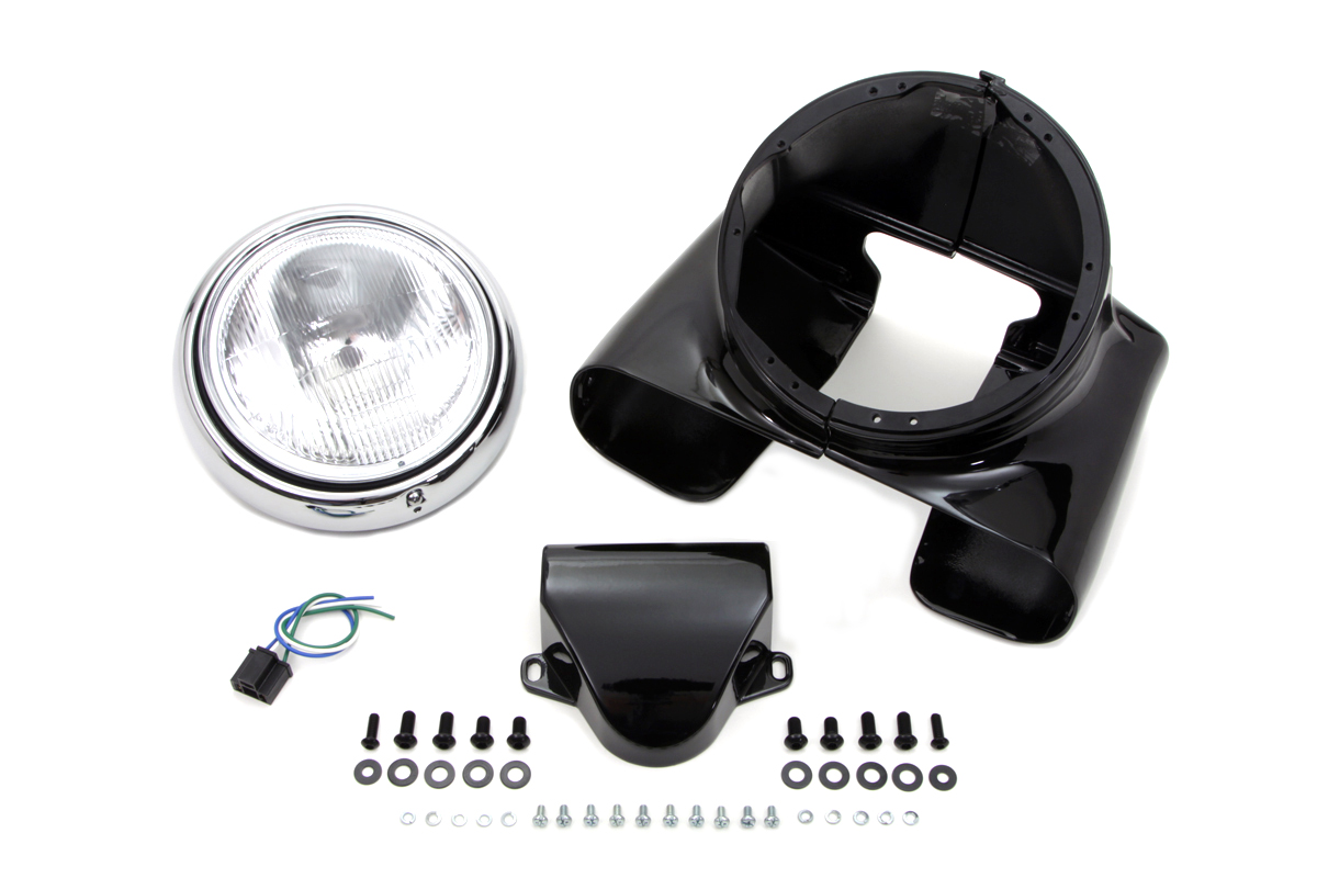 "V-Twin 24-1960 - 7"" Headlamp Cowl Kit"