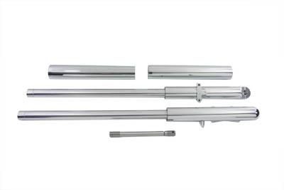 V-Twin 24-9010 - Billet Mega Fork Slider Set Chrome