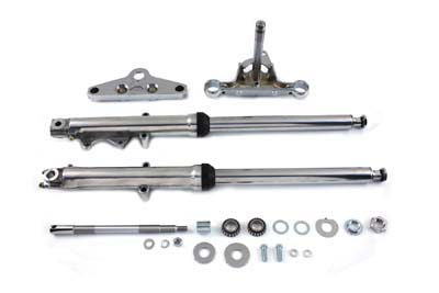 V-Twin 24-9972 - 41mm Fork Assembly with Chrome Sliders Dual Dis