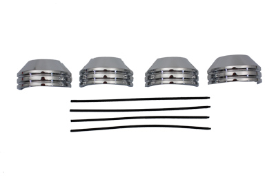V-Twin 24-9992 - 35mm Chrome Fork Boot Cover Set