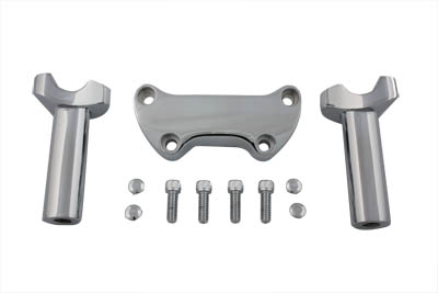 "V-Twin 25-2114 - 4-1/4"" Straight Riser Kit Chrome"