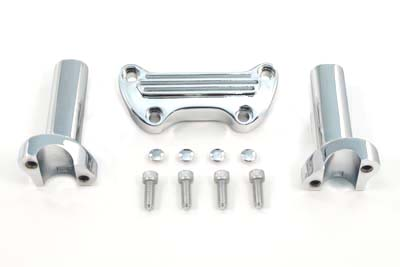"V-Twin 25-2116 - 4-1/4"" Straight Riser Kit Chrome"
