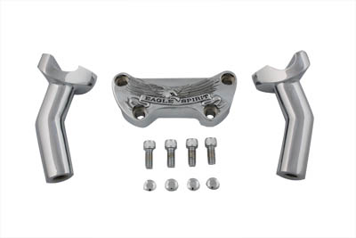 "V-Twin 25-2148 - 4-3/4"" Eagle Spirit Pullback Riser Kit Chrome"