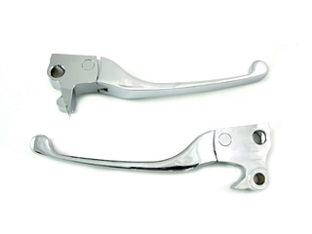 HAND LEVER SET, CHROME BILLET VTWIN 26-0116
