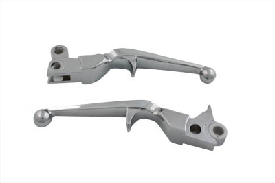 V-Twin 26-0415 - Chrome Trigger Style Hand Lever Set