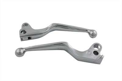 V-Twin 26-0580 - Hand Lever Set Chrome Wide
