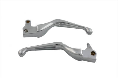 V-Twin 26-0782 - Chrome Slotted Hand Lever Set