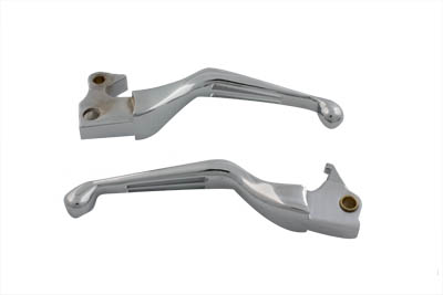 V-Twin 26-0784 - 2 Slot Hand Lever Set Chrome