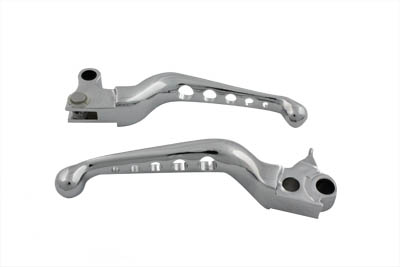 V-Twin 26-0788 - Chrome Drilled Hand Lever Set