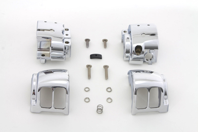 V-Twin 26-0986 - Handlebar Control Switch Housing Kit Chrome