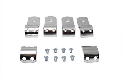 V-Twin 27-0038 - Footpeg Mount Clamp Set Chrome