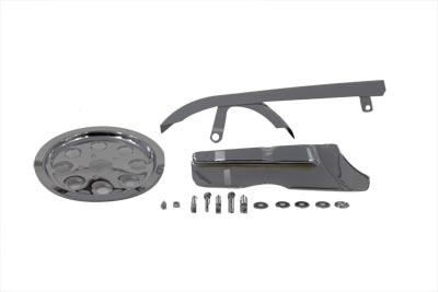 V-Twin 27-0542 - Chrome Belt Guard and Pulley Cover Kit