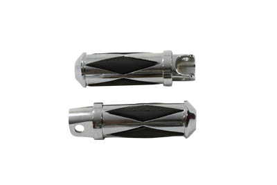 V-Twin 27-0554 - Diamond Style Footpeg Set Chrome