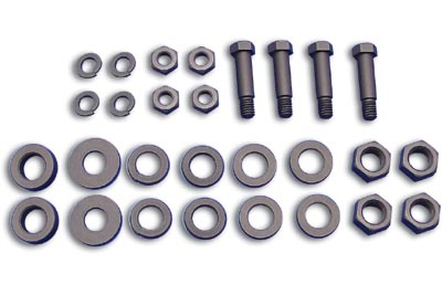 V-Twin 27-0704 - Footboard Mount and Hinge Hardware Kit