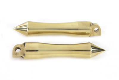 V-Twin 27-0775 - Pirate Spike Solid Brass Footpeg Set