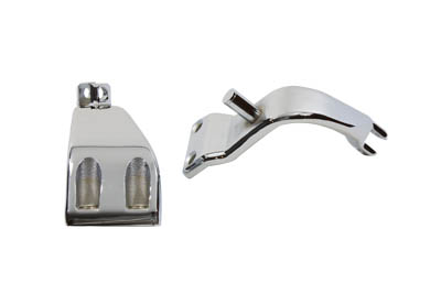V-Twin 27-0804 - Chrome Driver Footpeg Mount Set