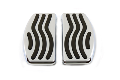 V-Twin 27-0822 - Driver Footboard Set with Wave Design