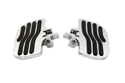 V-Twin 27-0852 - Passenger Mini Footboard Set with Wave Design