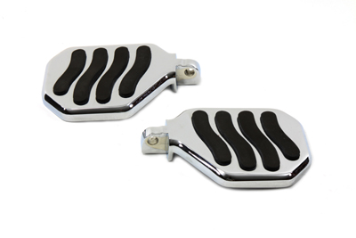 V-Twin 27-0881 - Passenger Mini Footboard Set with Wave Design