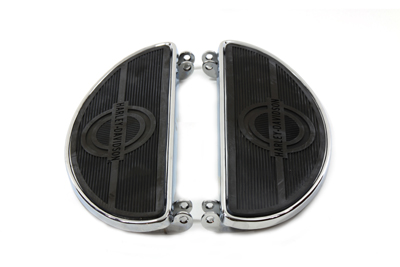 V-Twin 27-0900 - Driver Chrome Footboard Set with H-D Logo
