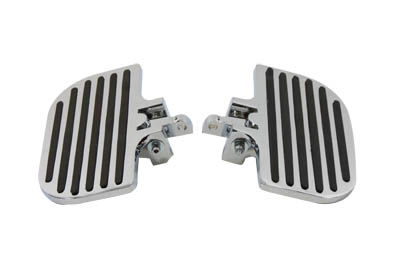 V-Twin 27-0929 - Passenger Mini Footboard Set with Rail Design