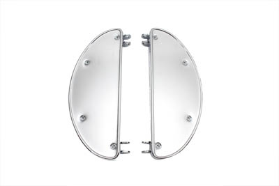 FOOTBOARD SET, HALF MOON, CHROME VTWIN 27-0943