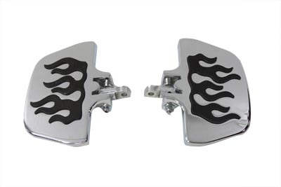 FLAME MINI FOOTBOARD SET VTWIN 27-0993