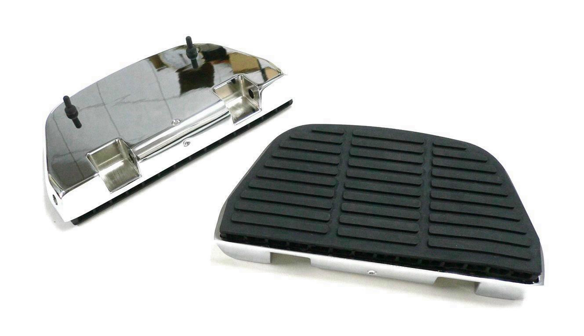 V-Twin 27-1125 - Chrome Block Rear Passenger Footboard Kit